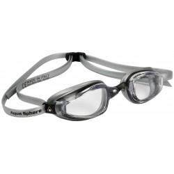 Aqua Sphere K180+ MP Clear Lens black/silver - okulary pływackie
