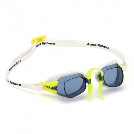 Aqua Sphere CHRONOS MP Dark white/lime - okulary pływackie, kategoria Okulary pływackie korekcyjne dla dorosłych, cena 110,00...