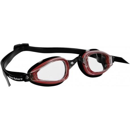 Aqua Sphere K180 MP Clear Lens red/black - okulary pływackie, kategoria Okulary pływackie dla dorosłych, cena 155,00 zł - ema...