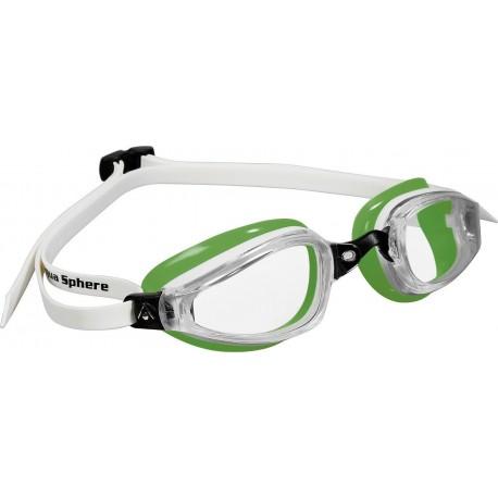 Aqua Sphere K180 MP Clear Lens white/green - okulary pływackie, kategoria Okulary pływackie dla dorosłych, cena 155,00 zł - e...