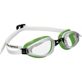 Aqua Sphere K180 MP Clear Lens white/green - okulary pływackie